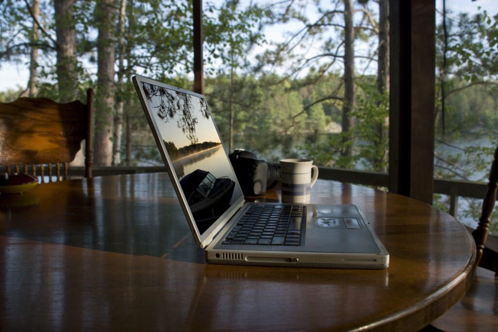 Telecommuting in the Northwoods